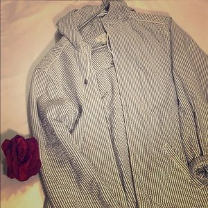Christopher & Banks Striped jacket hoodie size M
